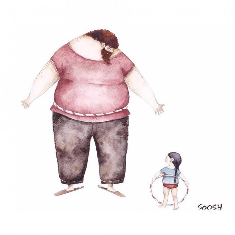 Em 14 Ilustrações Artista Retrata O Amor De Um Pai Por Sua