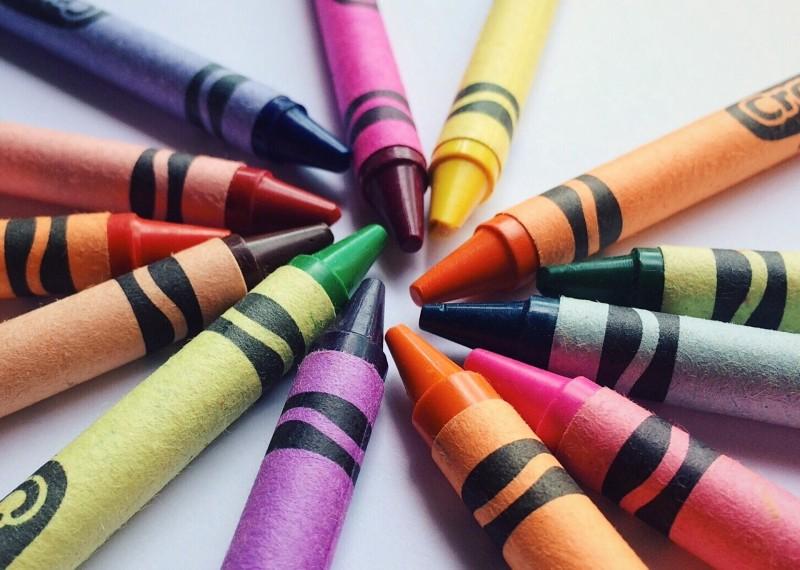 gizes de cera coloridos