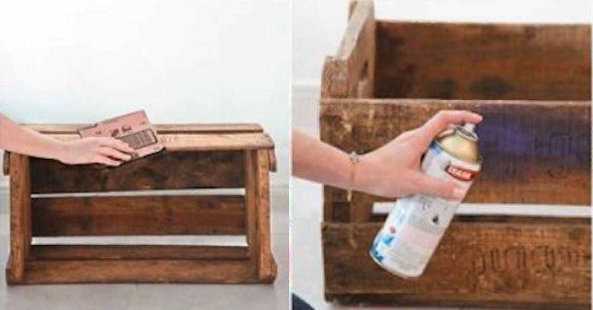 Como transformar caixas de frutas em decorações lindas.