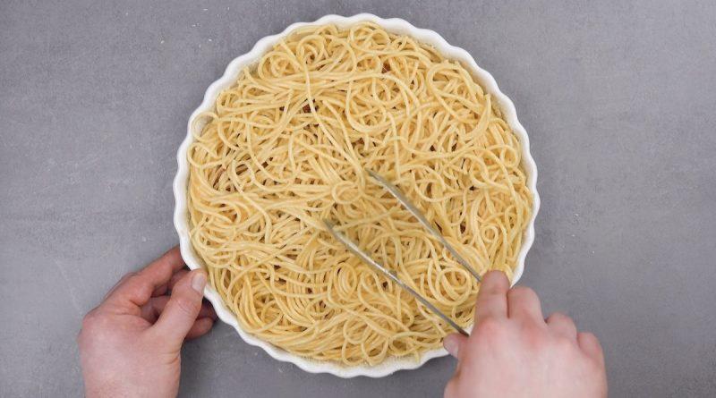 Cubra com mais espaguete