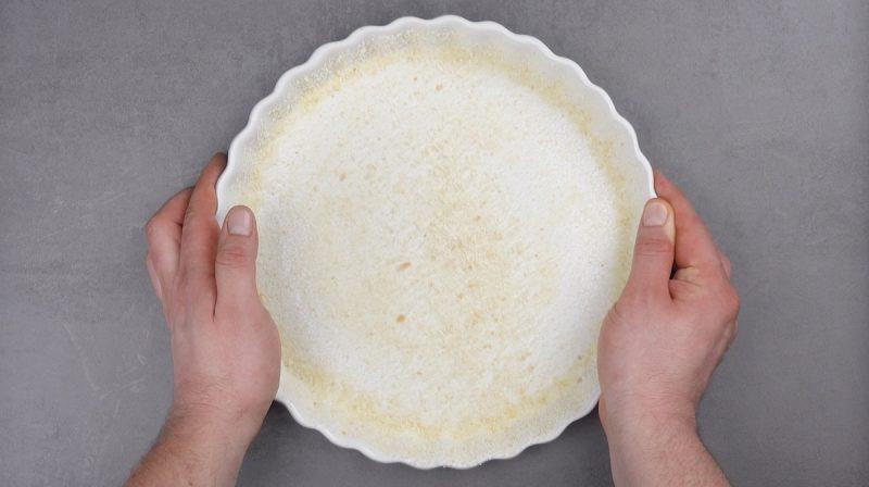 Forma com farinha de rosca