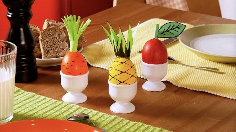 Frutas e vegetais de ovos