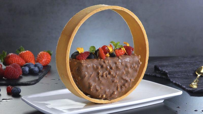 Parfait de chocolate no aro