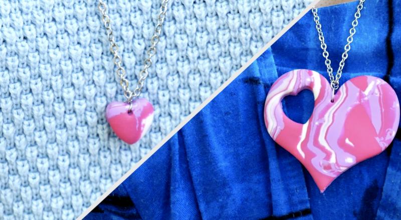 pingente para colar em forma de coração