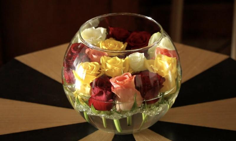 arranjo original com rosas