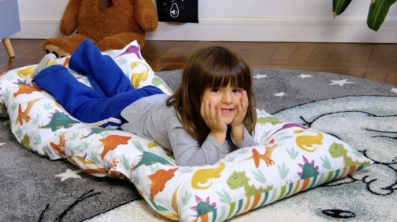 Colchonete de almofadas para crianças