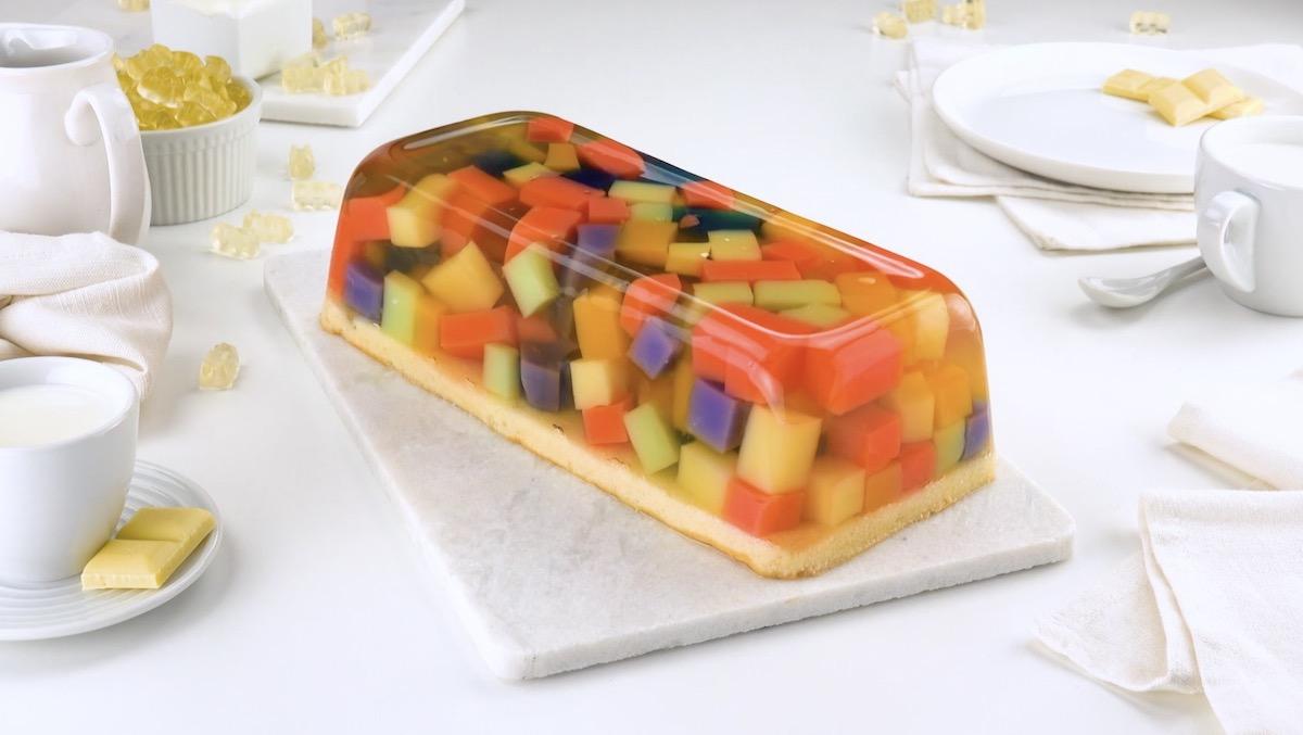 Bolo de gelatina de ursinhos