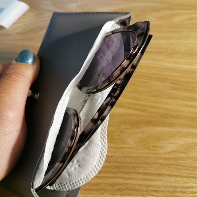 Protetor de calcinha para proteger os óculos