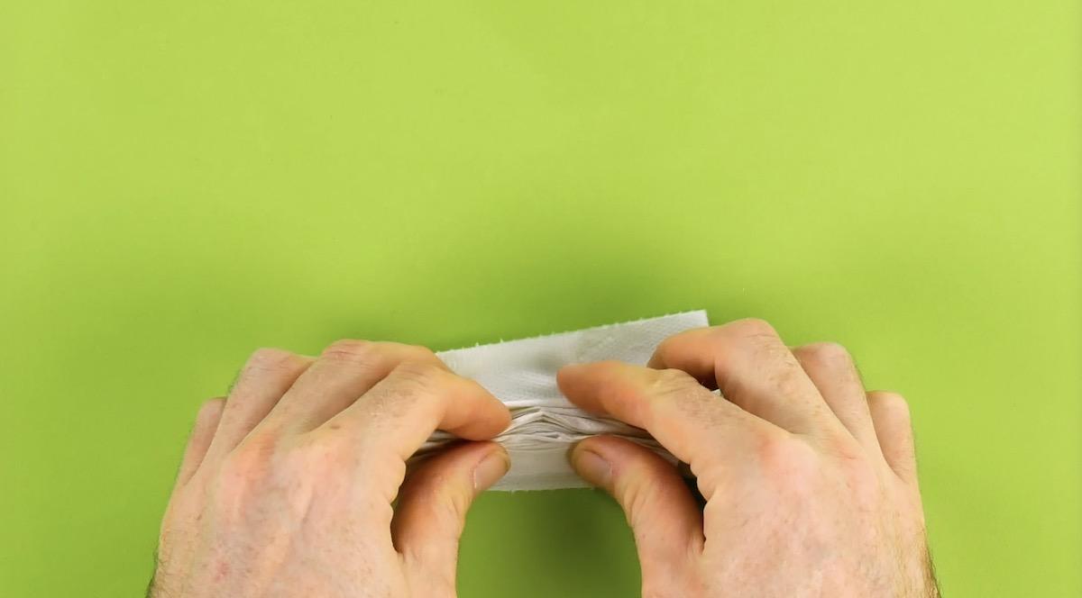 Folha de papel higiênico enrugada
