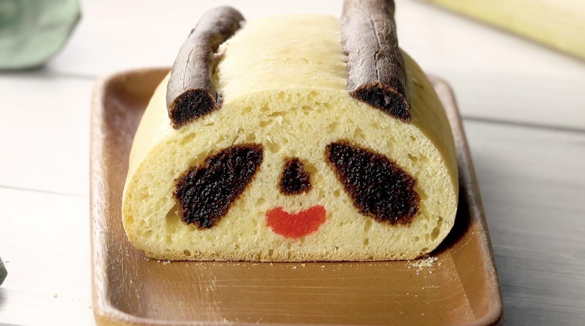 Urso panda de pão