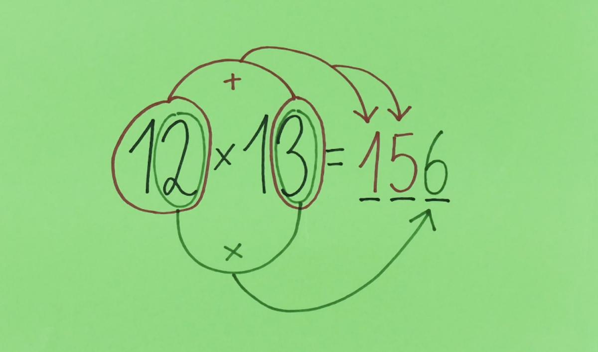 Multiplicação de 10 a 19