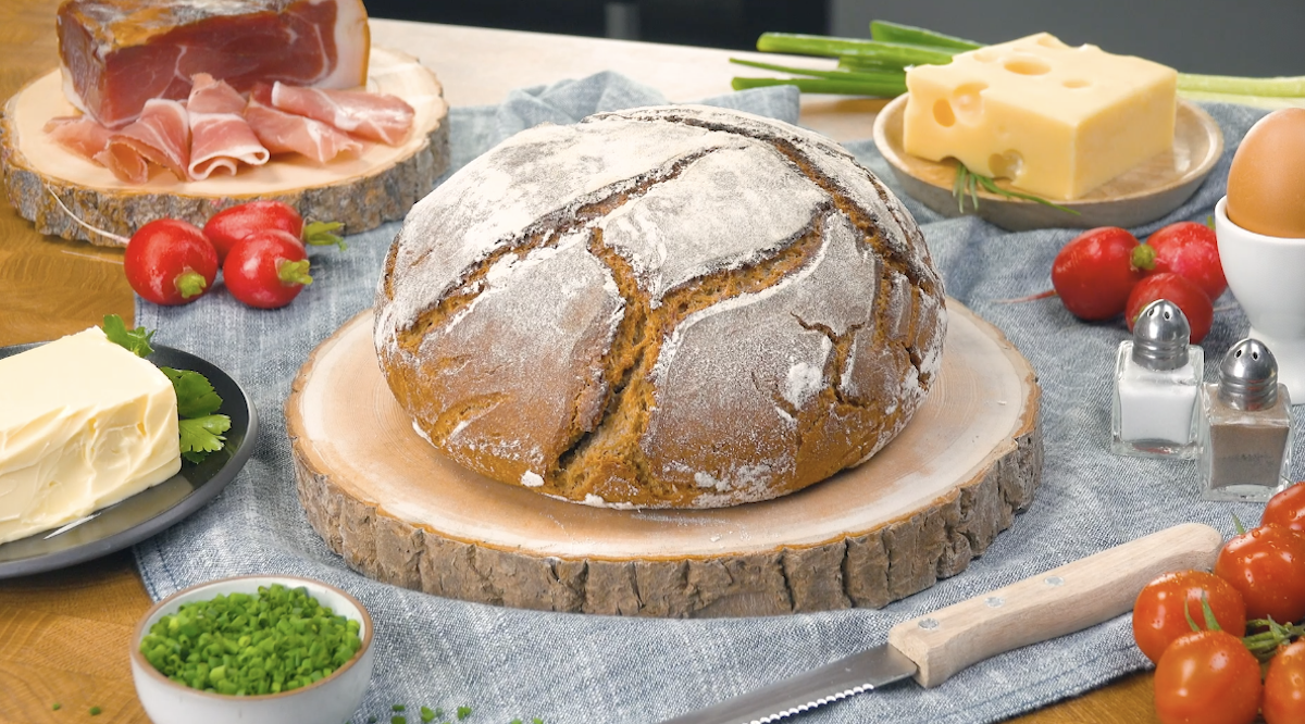 Pão de centeio pronto
