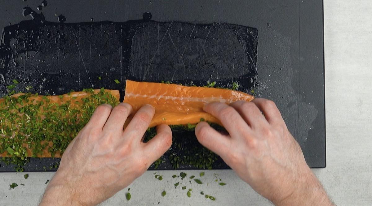 Filé se salmão com tempero e ervas