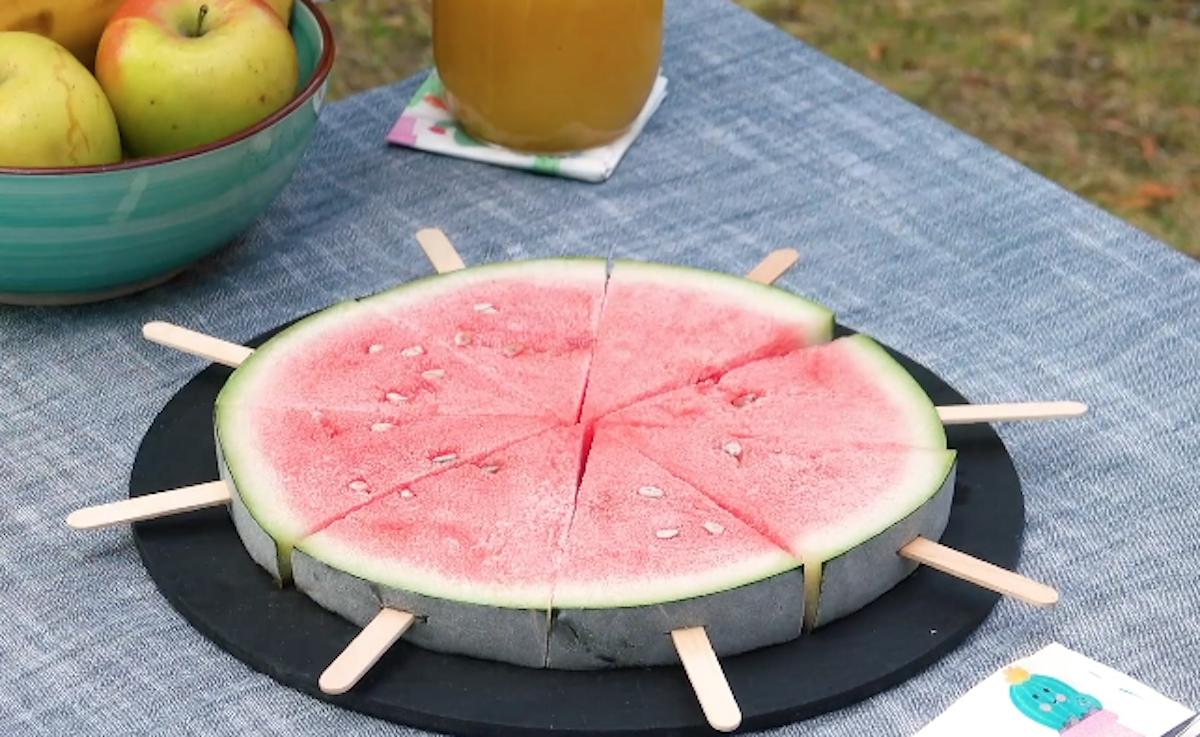 Sobremesa gelada com melancia