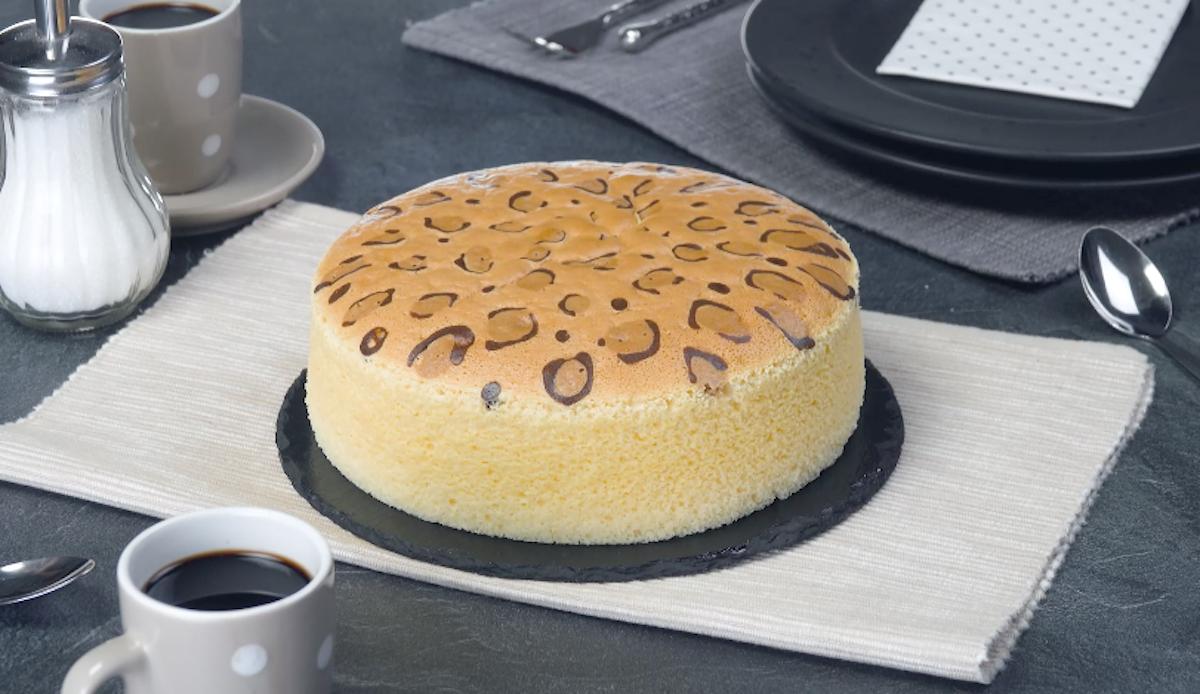Cheesecake japonês com visual selvagem