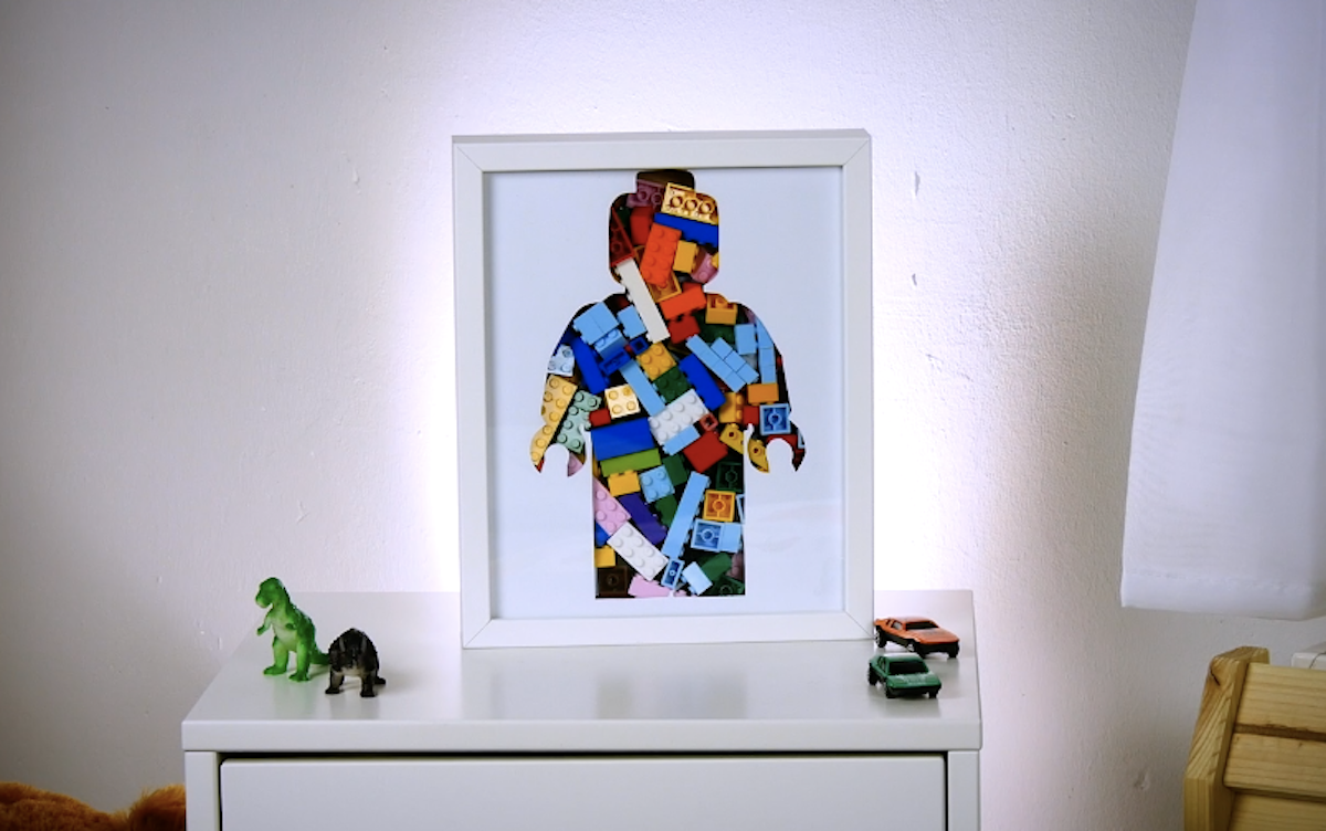 quadro de LEGO