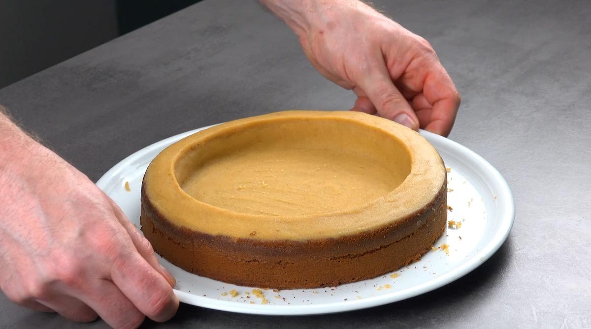 mistura de manteiga e farelo de bolo