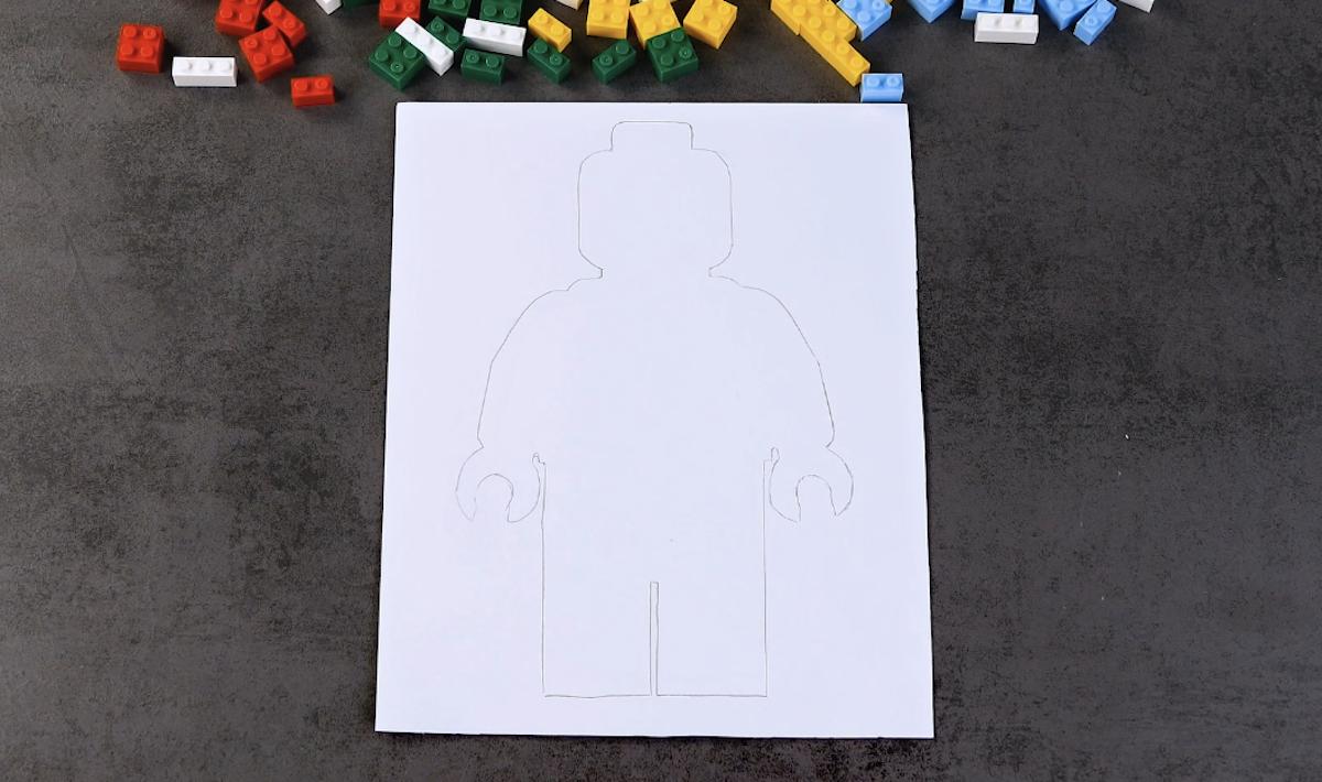 silhueta de boneco de LEGO