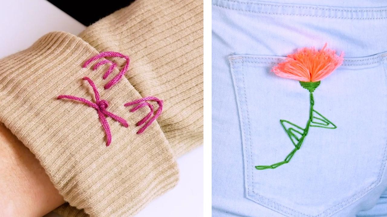 bordados em peças de roupa