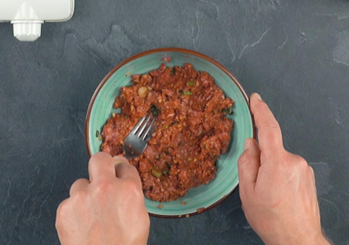 prepare o recheio de carne moída