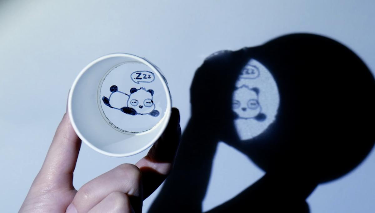 projetor em miniatura