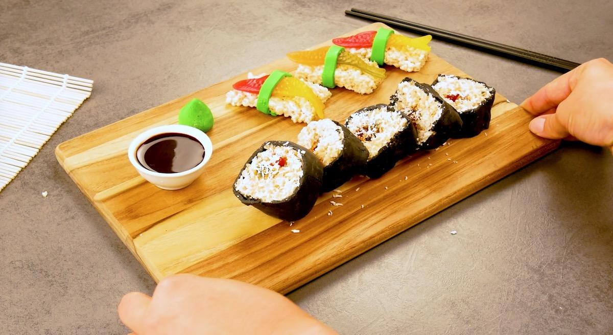 sushi de flocos de arroz