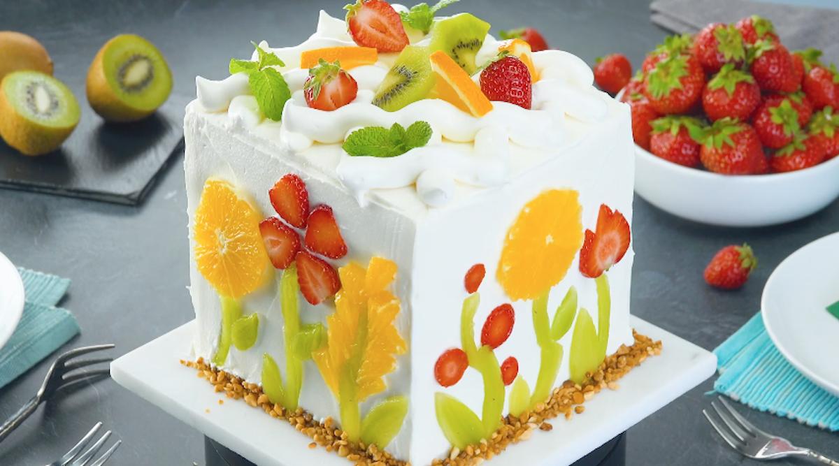 frutas em formato de flores