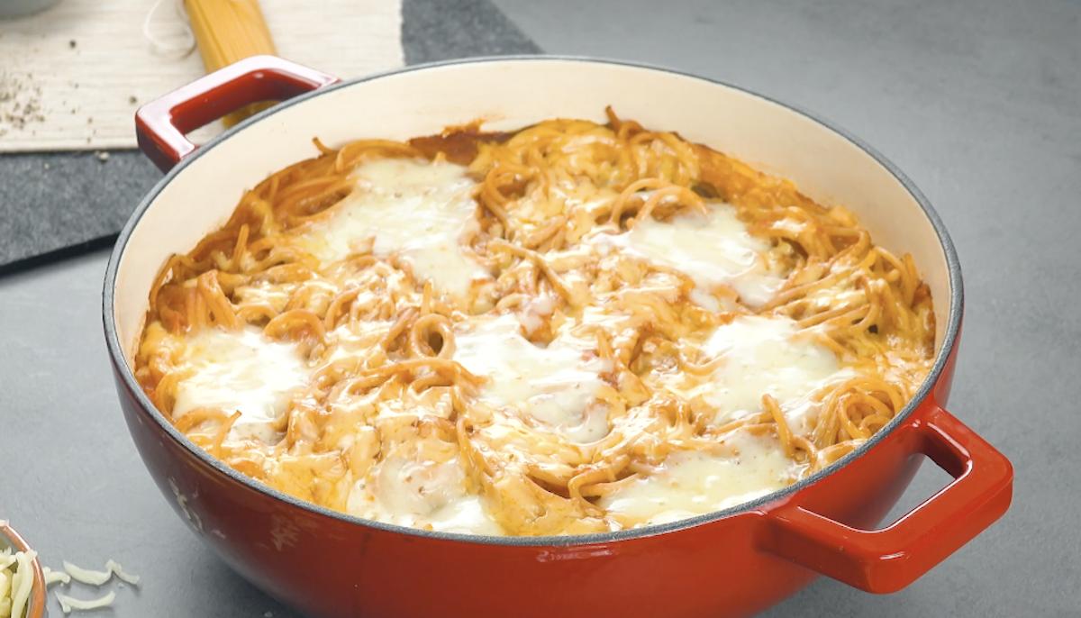 espaguete com almôndegas one pot