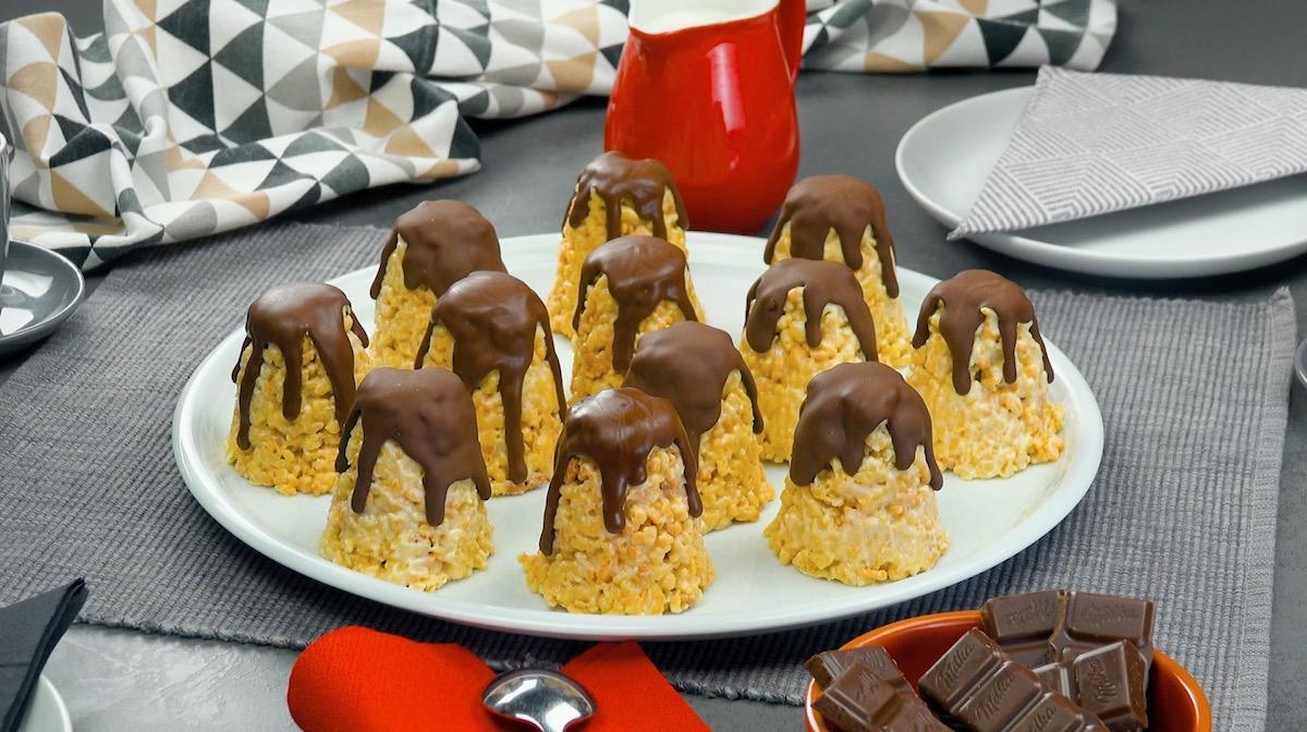 biscoitos crocantes com chocolate