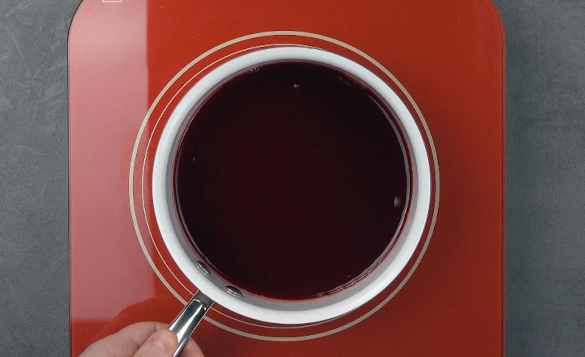 gelatina de framboesa