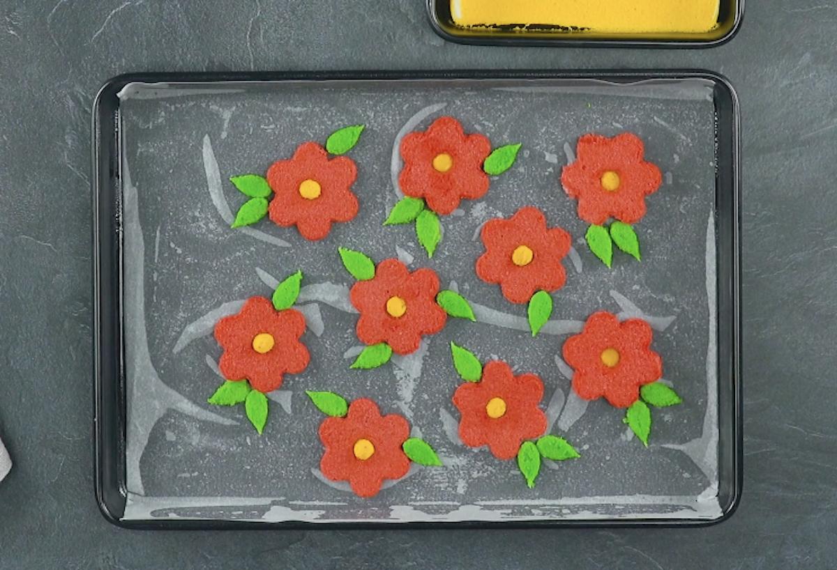 flores de pão-de-ló
