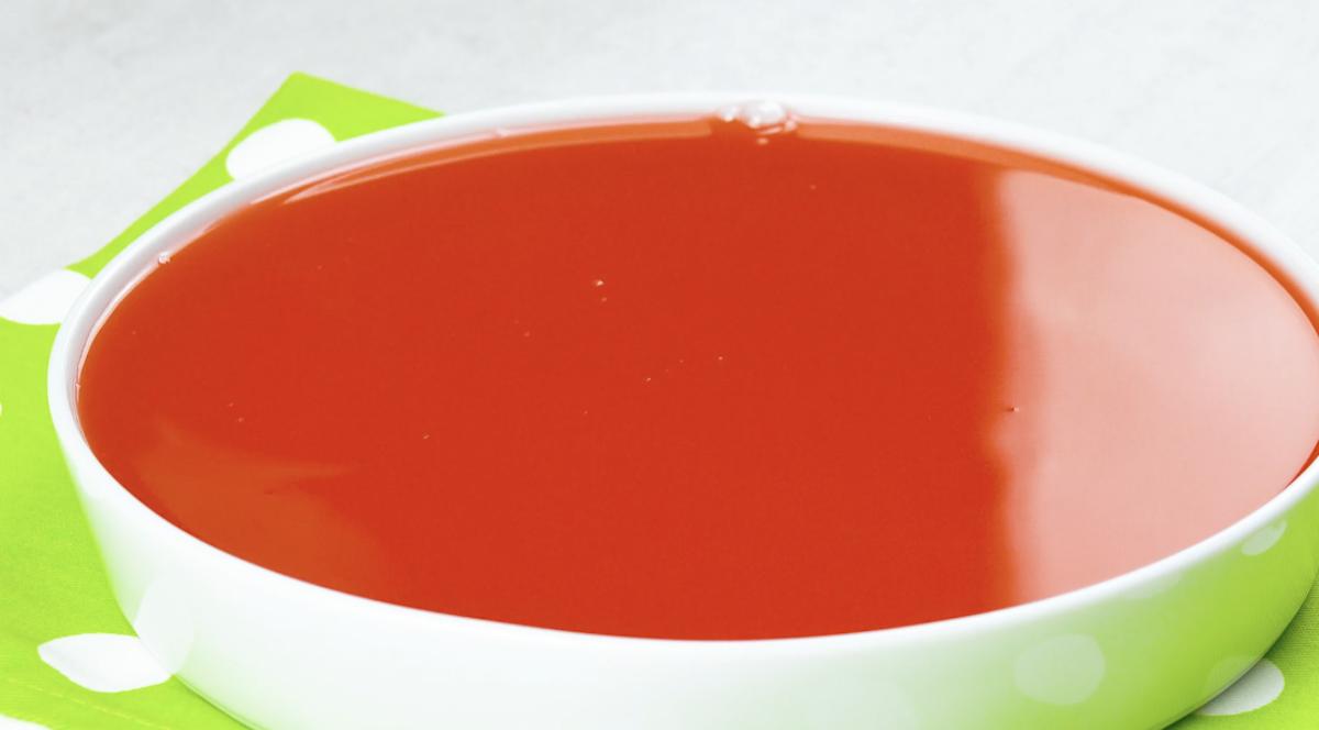 gelatina de cereja