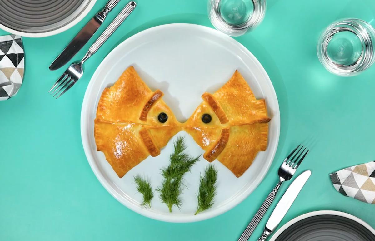 minipizzas de salmão