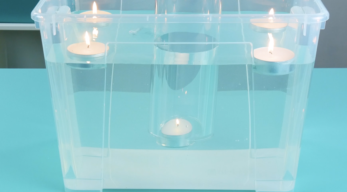 experimento das velas subaquáticas