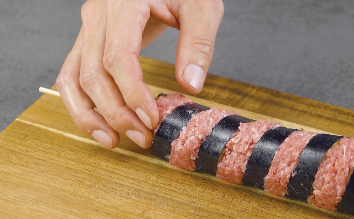 recheie a berinjela com a carne