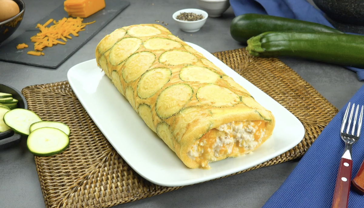 Zucchini Omelet Roll