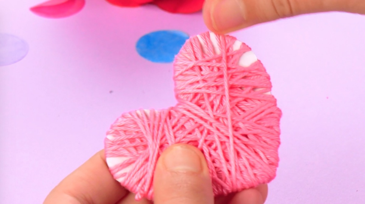 Envolva o coração com lã