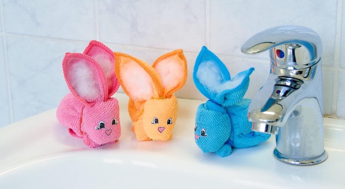 coelhos de toalha