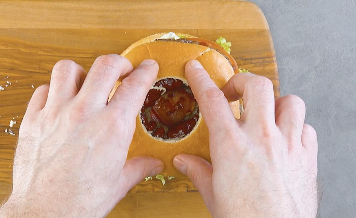 hambúrguer montado