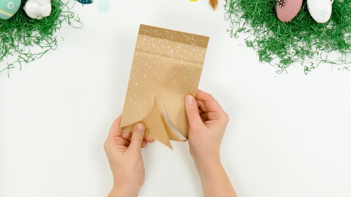 salpique tinta no saco de papel