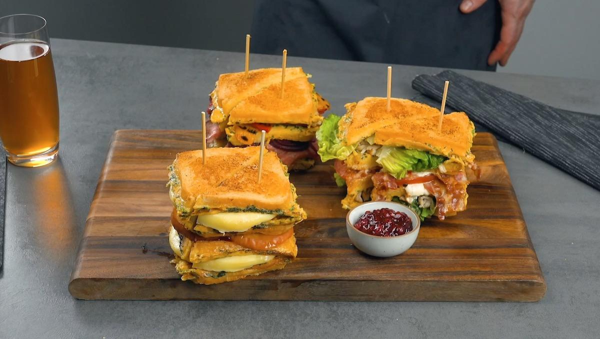 Sandwich XXL aux 3 saveurs
