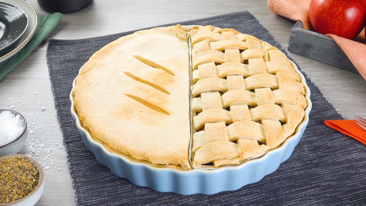 torta de maçã e frango