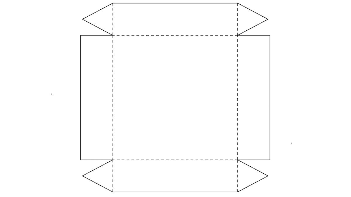 modelo de caixa de presente