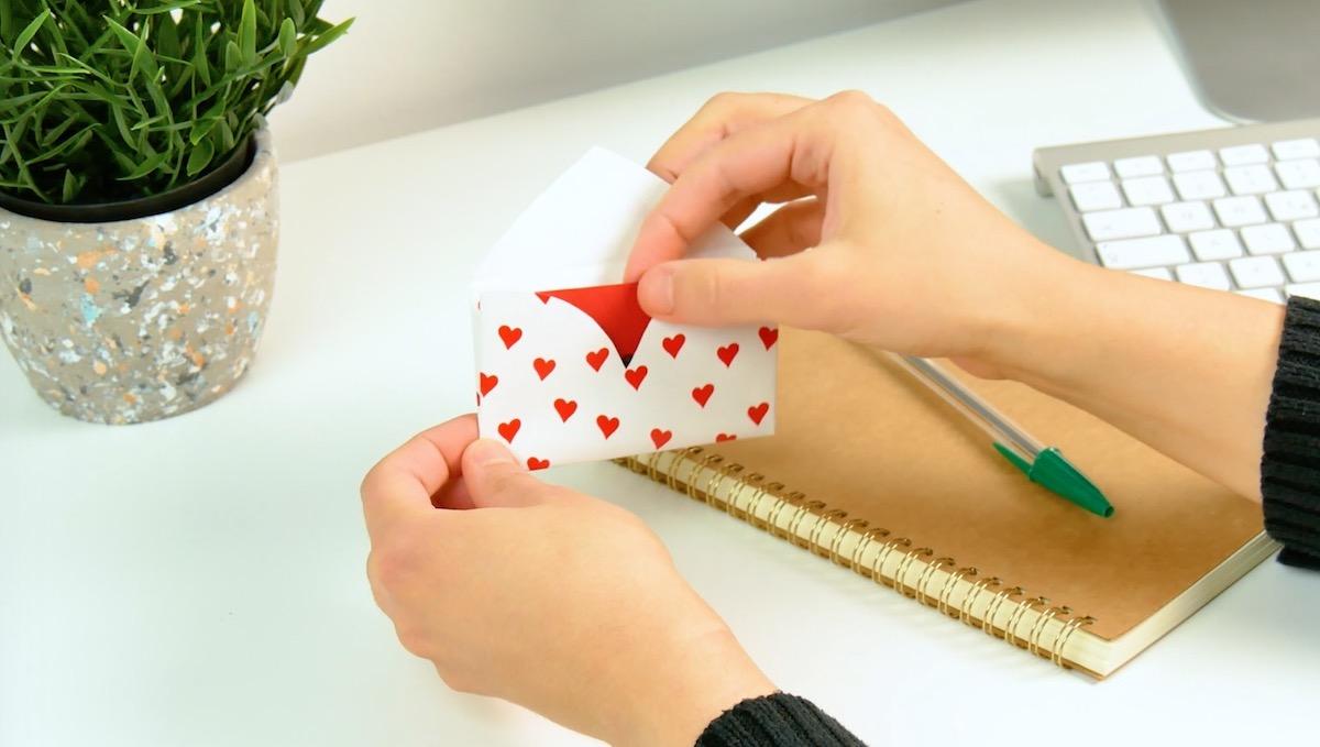 Envelope em formato de coração