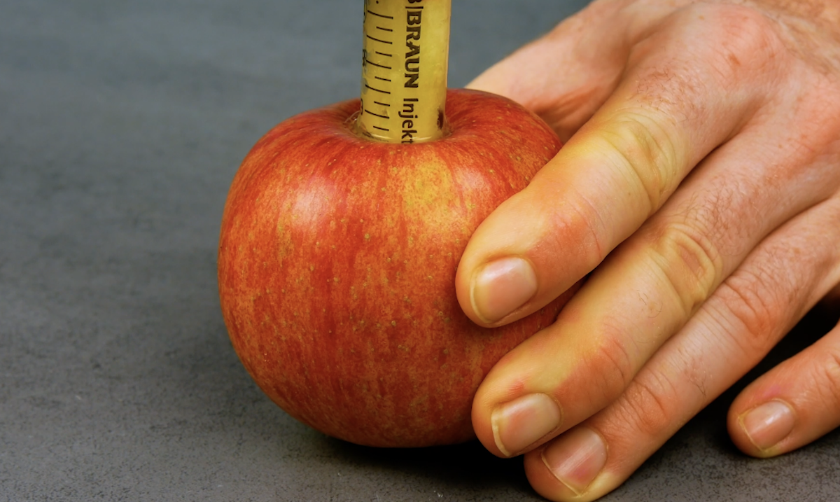 tirar as sementes da maçã