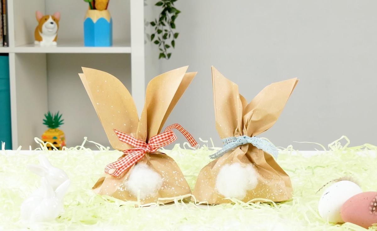 coelhinhos de sacos de papel