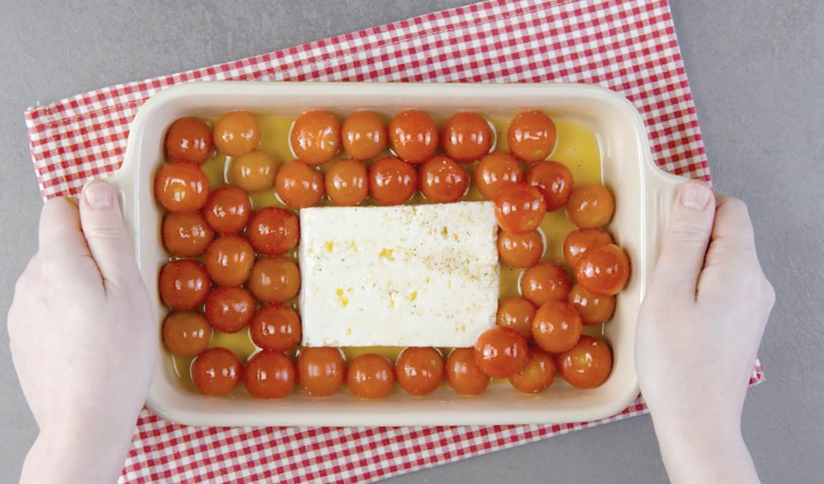 feta e tomates-cereja