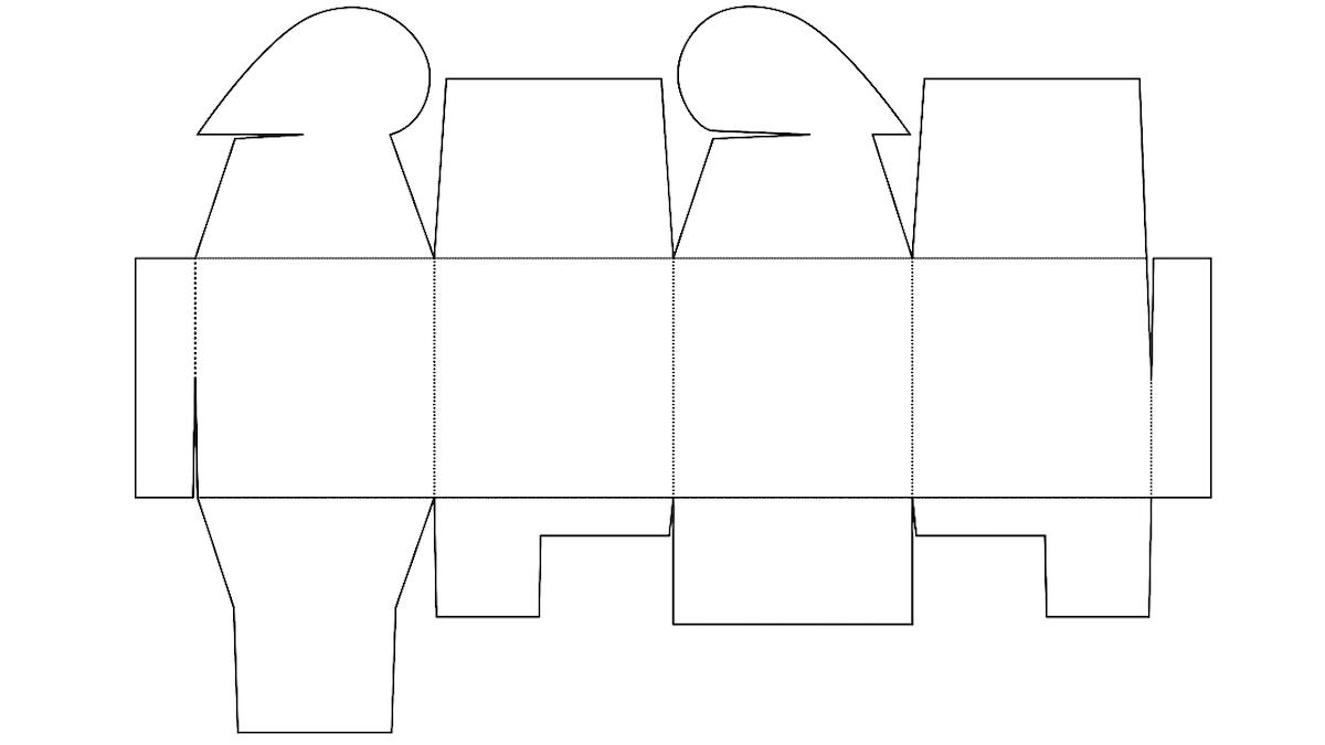 modelo de caixa com fecho de coração