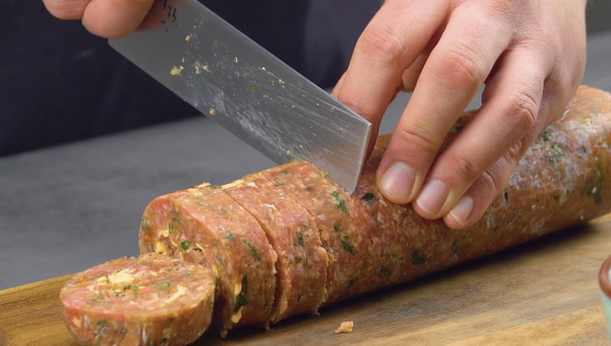corte o rolo de carne