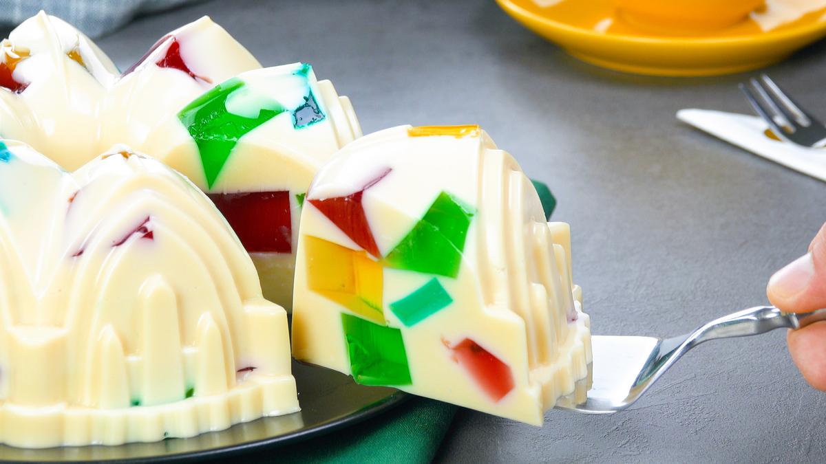 bolo cremoso de gelatina